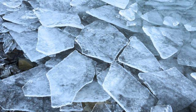 Spring ice break up